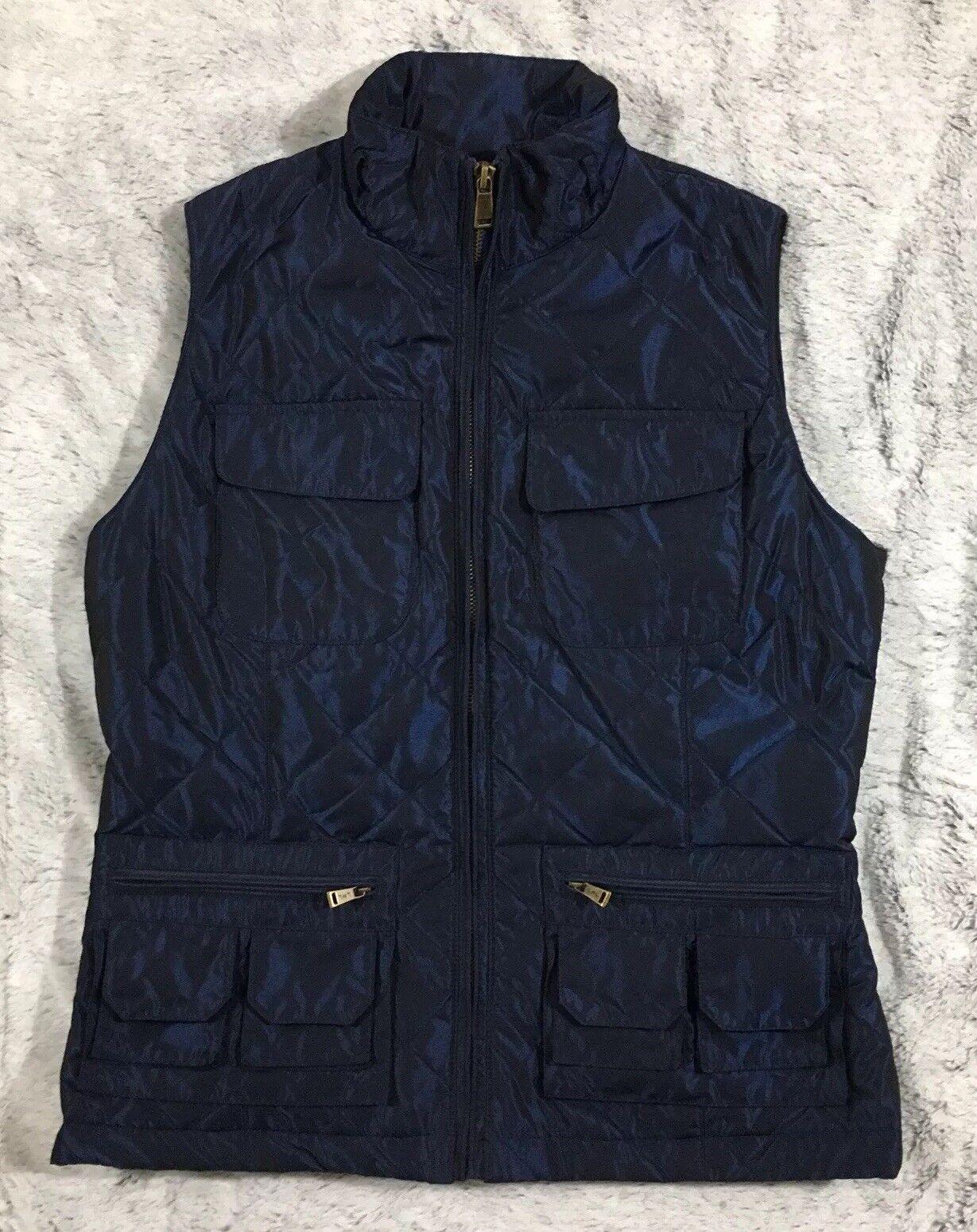 Lauren Ralph Lauren bluee Diamond Quilted Vest, Small, EUC (131)