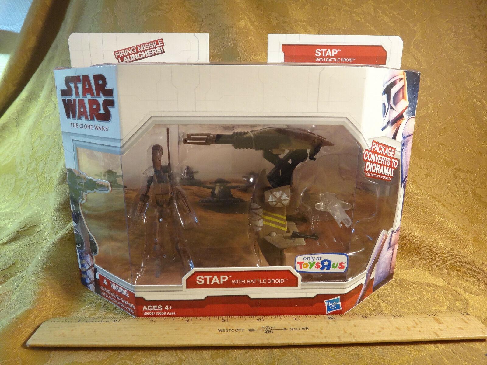 las mejores marcas venden barato Estrella Wars The The The Clone Wars Stap With Battle Droid - 18608 Menta en paquete libre de envío y manipulación Usa  edición limitada en caliente
