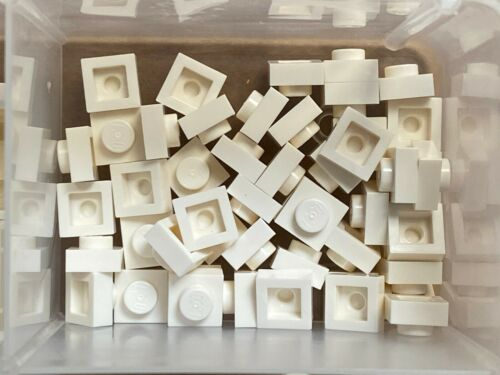 QTY 50 No 3024 LEGO Parts White Plate 1 x 1