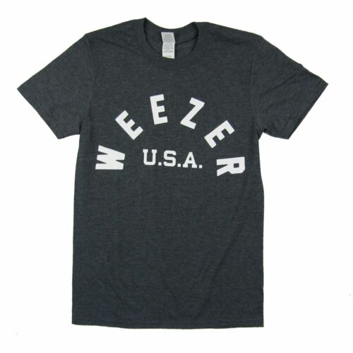 Weezer USA Homme Gris Heather T Shirt Nouveau Officiel