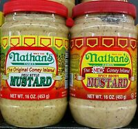 Nathans Coney Island Deli Mustard Or Spicy Brown Mustard - 16 Oz, Select 1