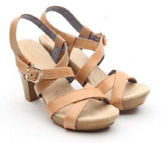 Dr. Scholl's Band Sandale tan natural Leder 4.5