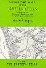 Wainwright Maps of the Lakeland Fells: Map 1: Eastern Fells by Alfred Wainwright (Sheet map, folded, 1997)