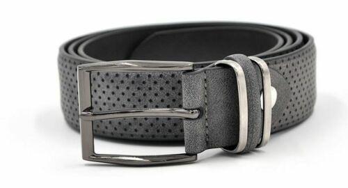 Casual Fashionable Waistband Belt Metal Buckle Leather Dress Dark Grey Color