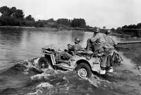 WWII Photo US Army Jeep Moselle France Fall 1944  WW2 B&W World War Two / 1199