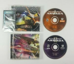 Star-Trek-Armada-and-Armada-II-2-PC-CD-ROM-Discs-and-Jewel-Cases-Activision