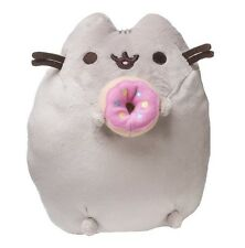 "Gund 9.5"" PLUSH PUSHEEN with FROSTED DONUT ~NEW~"