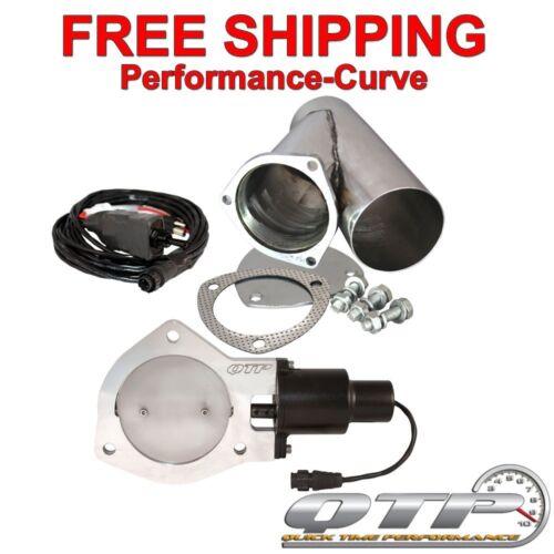 "QTEC40CPS QTP Quick Time Performance Electric Exhaust Cutout w// Y 4/"""