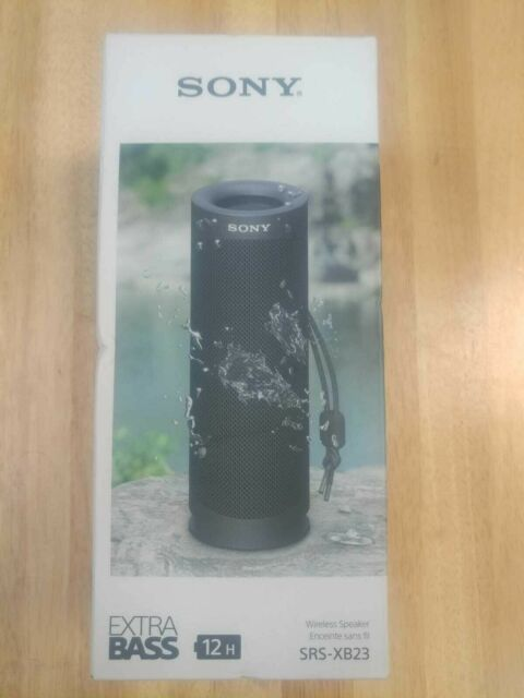 Sony SRS-XB23 Portable Waterproof Bluetooth Speaker - Black