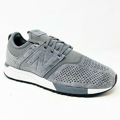 New Balance 247 Lifestyle RevLite Suede Gray White Mens Size 8 MRL247LY | eBay