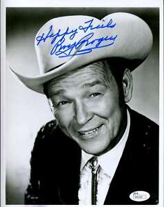 ROY ROGERS JSA COA HAND SIGNED 8X10 PHOTO AUTHENTICATED AUTOGRAPH