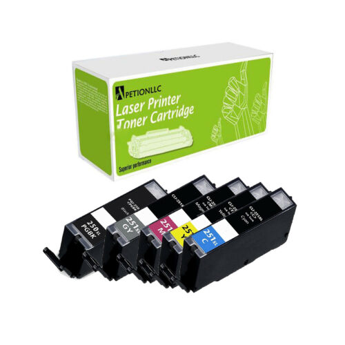 New Compatible PGI250 XL BK CLI251 XL C M Y GY Ink For Canon PIXMA iP8720