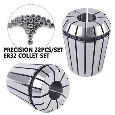 22Pcs ER32 Spring Collet Sets All Sizes CNC Milling Machine Lathe Tools Kit USA