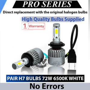 2x Bulbs H7 LED COB Headlights High Beam 6500K White 8000Lumen BMW X4 F26 2014+