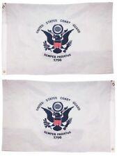 2x3 Embroidered USCG U.S Coast Guard Double Sided 220D Sewn Nylon Flag 2/'x3/'