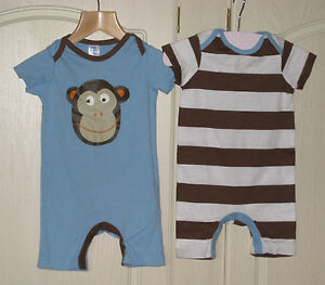 909448740d5 New Baby Mini Boden Romper Play Suit 3 6 12 18 24 months monkey or ...