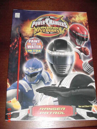 POWER RANGERS OPERATION OVERDRIVE PAINT WITH WATER 2008