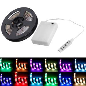 4-5V-Battery-Operated-200CM-RGB-LED-Strip-Light-Waterproof-Craft-Hobby-Light-SW
