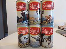 6 Schmidt Beer Cans Wildlife Series  Unopened RARE (No Beer in the cans)