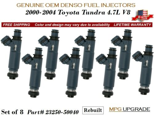 8 Fuel Injectors MPG UPGRADE OEM DENSO for 2000-2004 Toyota Tundra 4.7L V8