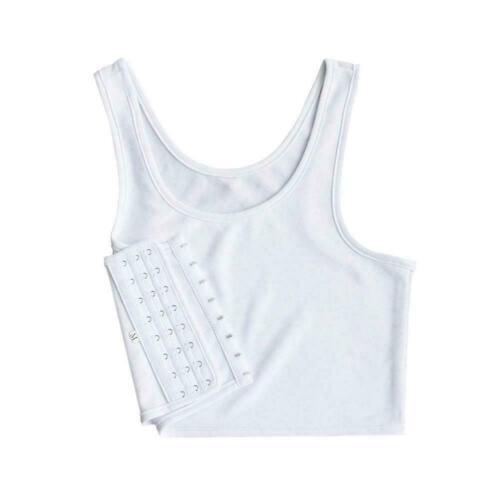 Women Lesbian Tomboy Chest Breast Binder Slim Fit FTM Crop Vest Undershirt C0F7
