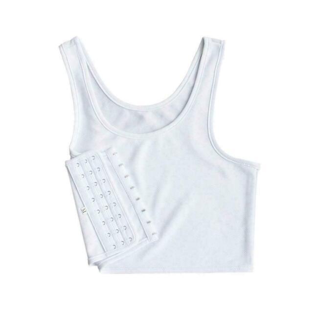 Women Lesbian Tomboy Chest Breast Binder Slim Fit FTM Vest Crop Tank Unders U3G1