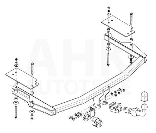 Kpl AHK Für Mazda 6 GY Kombi 03-08 Anhängerkupplung abn.+ES 13p uni