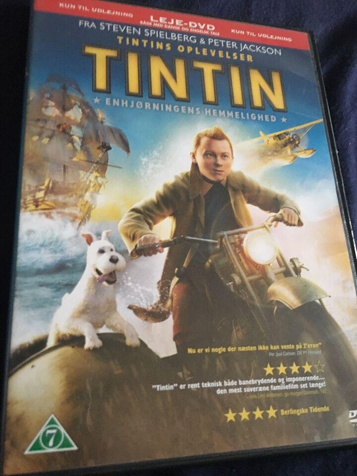 Tintin, DVD, familiefilm