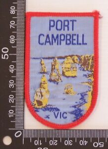 VINTAGE-PORT-CAMPBELL-VIC-EMBROIDERED-SOUVENIR-PATCH-WOVEN-CLOTH-SEW-ON-BADGE