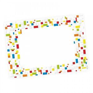 A2 Schreibtischunterlage Legosteine* Bausteine bunt Kinderzimmer bunt Bricks