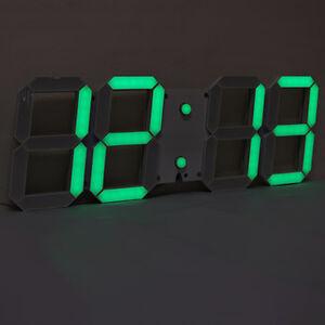 3d led digital wanduhr timer gro e modern wall clock uhr schwarz und gr n ebay. Black Bedroom Furniture Sets. Home Design Ideas