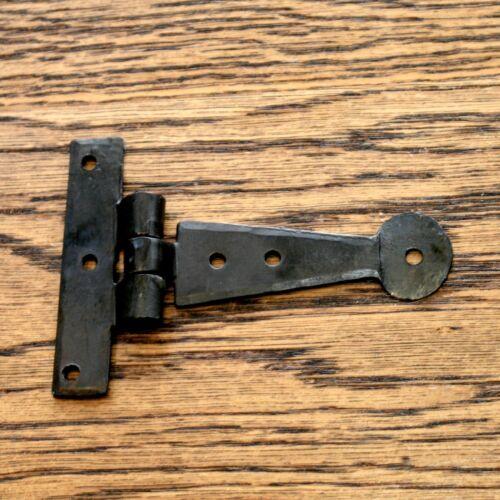 4 Inch PAIR  T Hinges Tee Hinge Strap hinge Black vintage Wrought Iron Penny