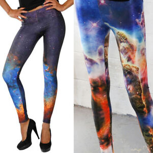 Women's Clothing Leggings Women Girls Tie Dye Cosmic Galaxy Space Print Stretch Milksilk Leggings Uk Stock
