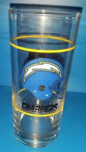 Vintage-San-Diego-Chargers-tall-Promo-Glass-from-Mobil