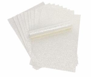 10 A4 Fucsia No Caseta Tacto Suave Brillo Papel blanco con respaldo aprox 150GSM