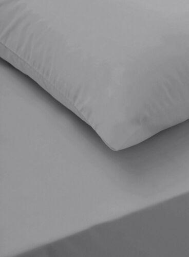 Gris Full drap draps 100/% Coton Simple Double King Super King Size