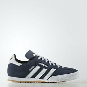 Details zu Men's Adidas Samba Super Suede Blue Trainers Indoor Football Shoe Casual Retro