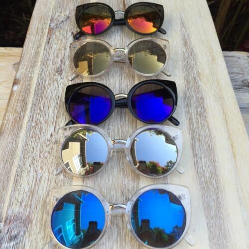Large Bohemian Cat Eye Round China Doll Fashion Diva Sunglasses Glasses 6734 IT