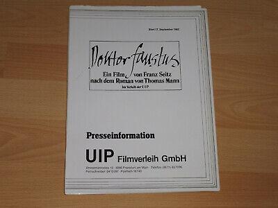 Gutherzig Doktor Faustus Thomas Mann Jon Finch Presseheft ´82