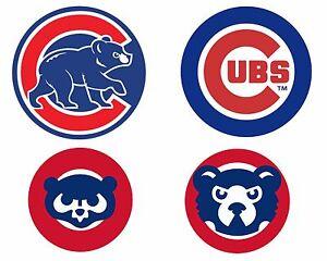 Chicago Cubs Cornhole Decals Set Of 4 Indoor Outdoor Ebay