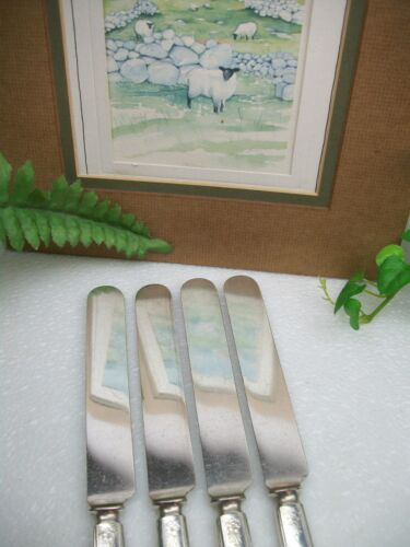 Rogers /& Sons CHESTER Silverplate Dinner Knives 1900 4 International Silver  Wm