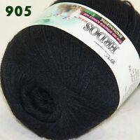 Sale 1ballx50g LACE Crochet Acrylic Wool Cashmere hand knitting Yarn Black