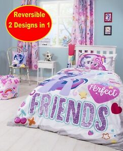 Details about OFFICIAL MY LITTLE PONY CRUSH SINGLE DUVET QUILT COVER GIRLS  PURPLE BEDROOM
