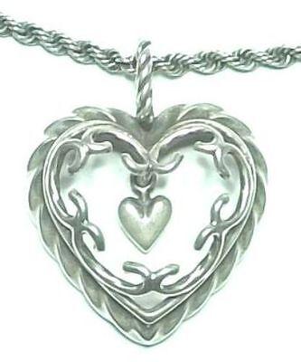 "KALEVALA KORU KK Finland Beautiful Sterling Silver Necklace ""Heart of the House"""