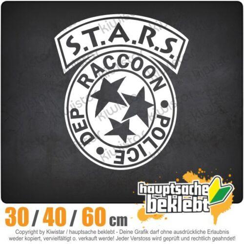 Raccoon Police Department chf0828 en 3 tamaños JDM luneta trasera pegatinas