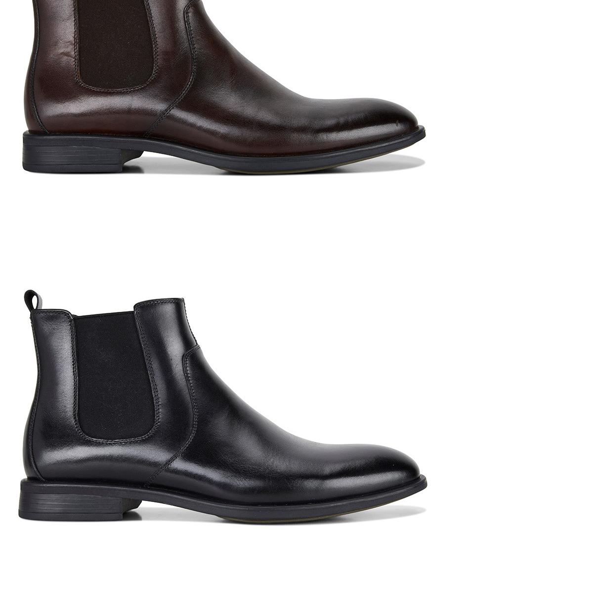 ordinare on-line Mens Julius Marlow Lifted Leather Pull On stivali stivali stivali nero Mocha Work Casual scarpe  consegna diretta e rapida in fabbrica