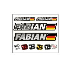 """Fabian"" Auto Fahrrad Motorrad Kart Helm Fahrername Aufkleber Sticker Flagge"