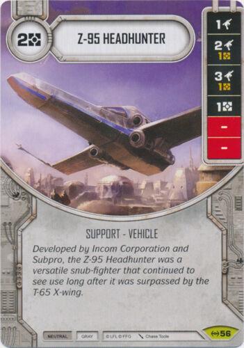 x1 Z-95 Headhunter 56 Rare Star Wars Destiny Empire at War M//NM