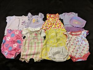 ed85576ca Baby Girl Newborn Spring   Summer Lot  Rompers