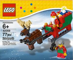 Lego-Holiday-Santa-039-s-Sleigh-polybag-40059-inkl-BA-ohne-Box